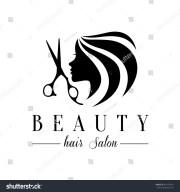 beauty hair salon logo stock vector
