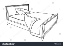 Bed Vector Icon Bedspread Isolated Stock