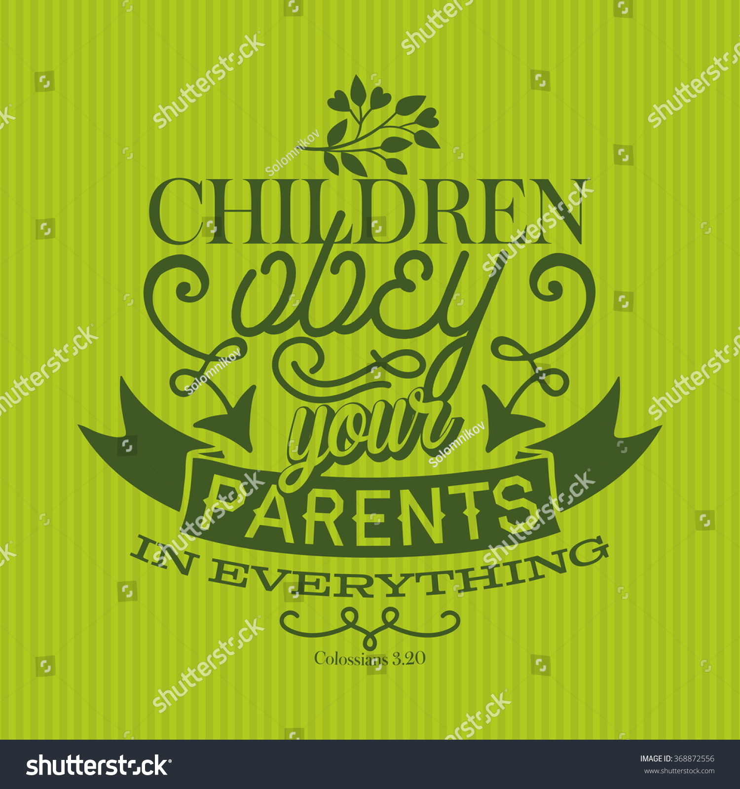 Bible Lettering Children Obey Your Parents In Everything