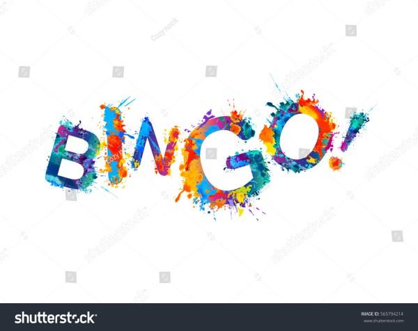 Bingo Vector Watercolor Rainbow Splash Paint Stock