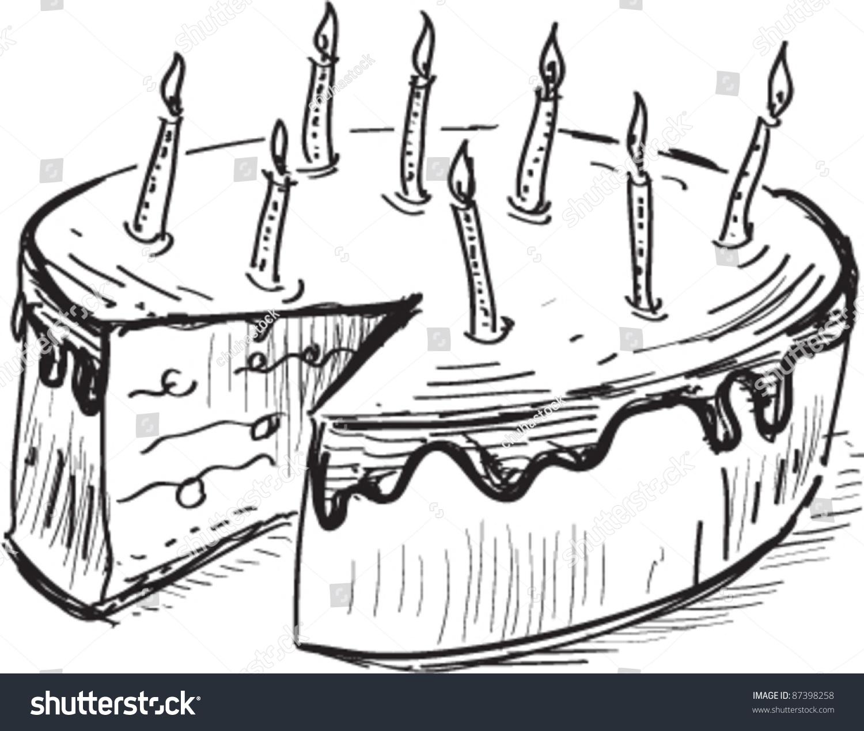 Pencil art birthday cake photo drawn wedding cake pencil viewletter co