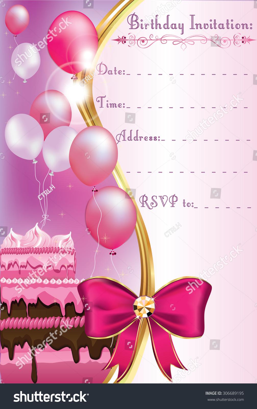 https www shutterstock com image vector birthday invitation card print printable party 306689195