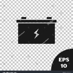 Black Car Battery Icon Isolated On Stock Vector Royalty Free 1499056100