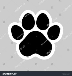 black cat and dog animal paw pet footprint icon vector illustration perfect for sticker pin logo sign symbol postcard t shirt  [ 1500 x 1600 Pixel ]