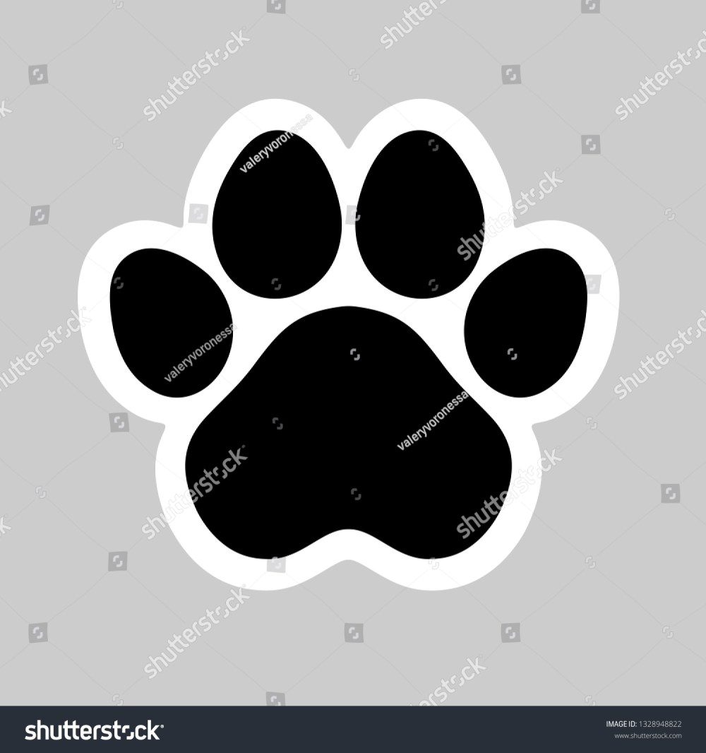 medium resolution of black cat and dog animal paw pet footprint icon vector illustration perfect for sticker pin logo sign symbol postcard t shirt