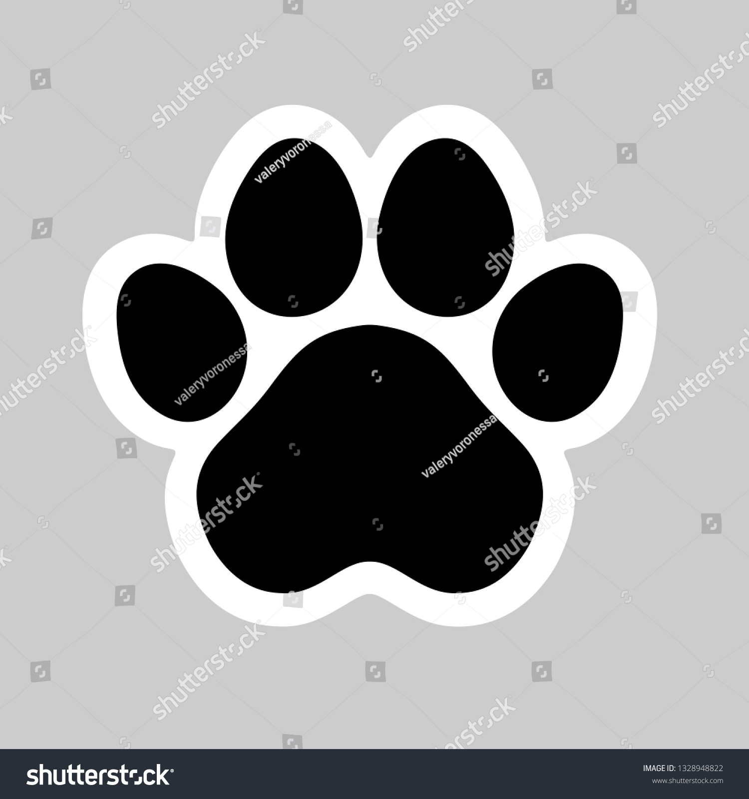 hight resolution of black cat and dog animal paw pet footprint icon vector illustration perfect for sticker pin logo sign symbol postcard t shirt