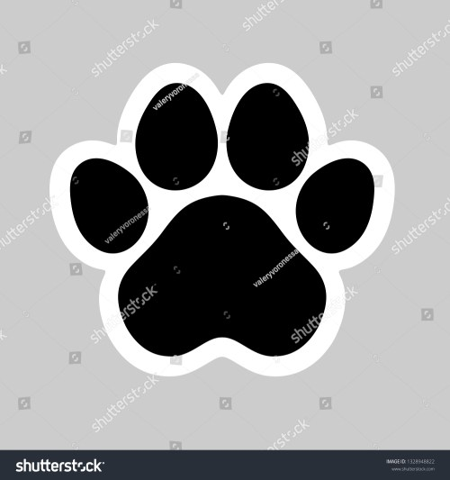 small resolution of black cat and dog animal paw pet footprint icon vector illustration perfect for sticker pin logo sign symbol postcard t shirt