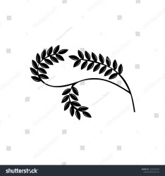 Black Curved Twig Round Border Leaves Stock Vector Royalty Free 1324240295