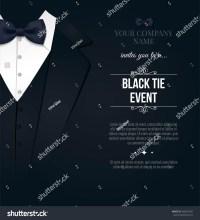 Black Tie Event Invitation Elegant Black Stock Vector ...