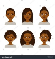 black women faces hair