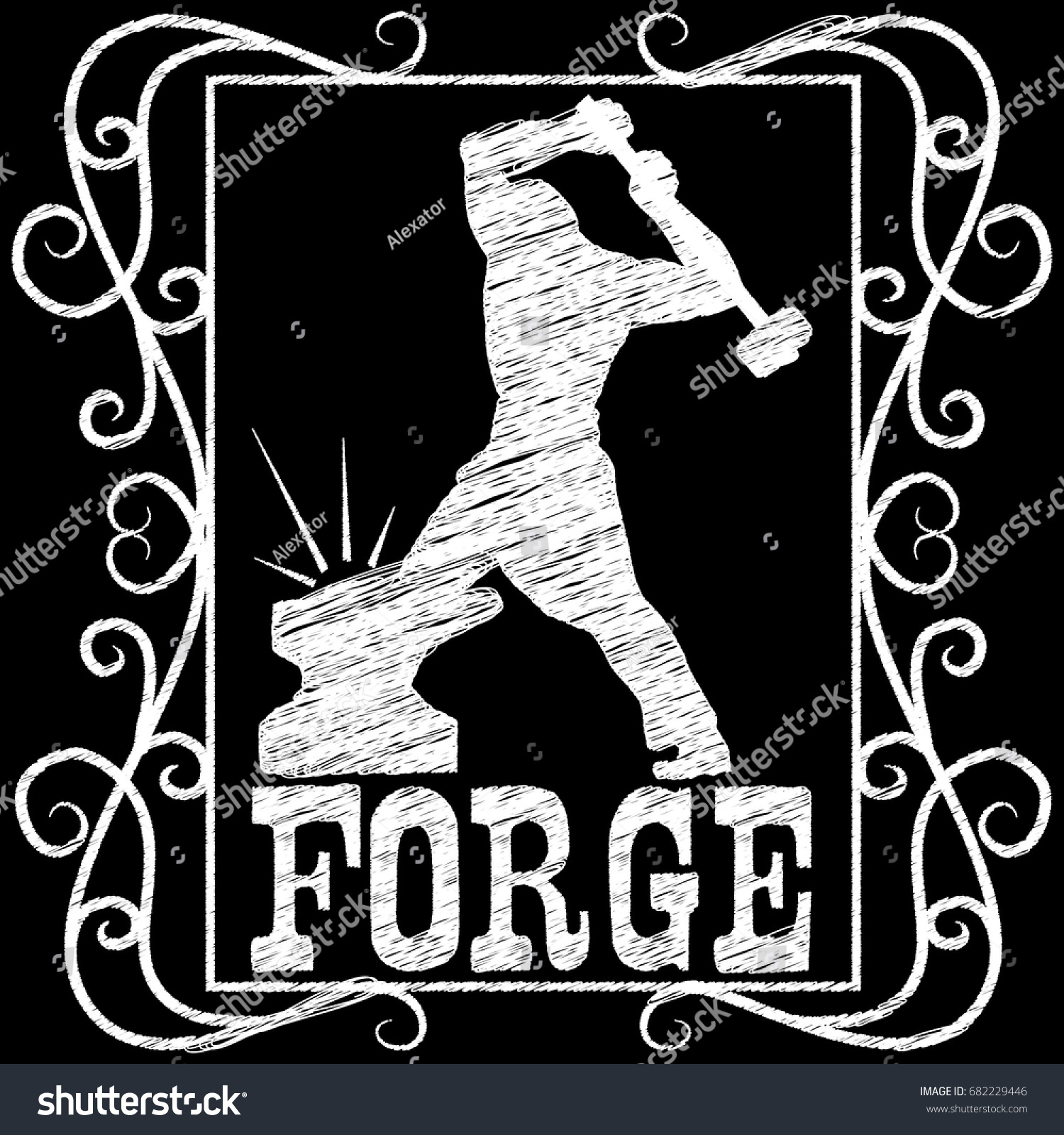 Forge Anvil And Hammer Symbol