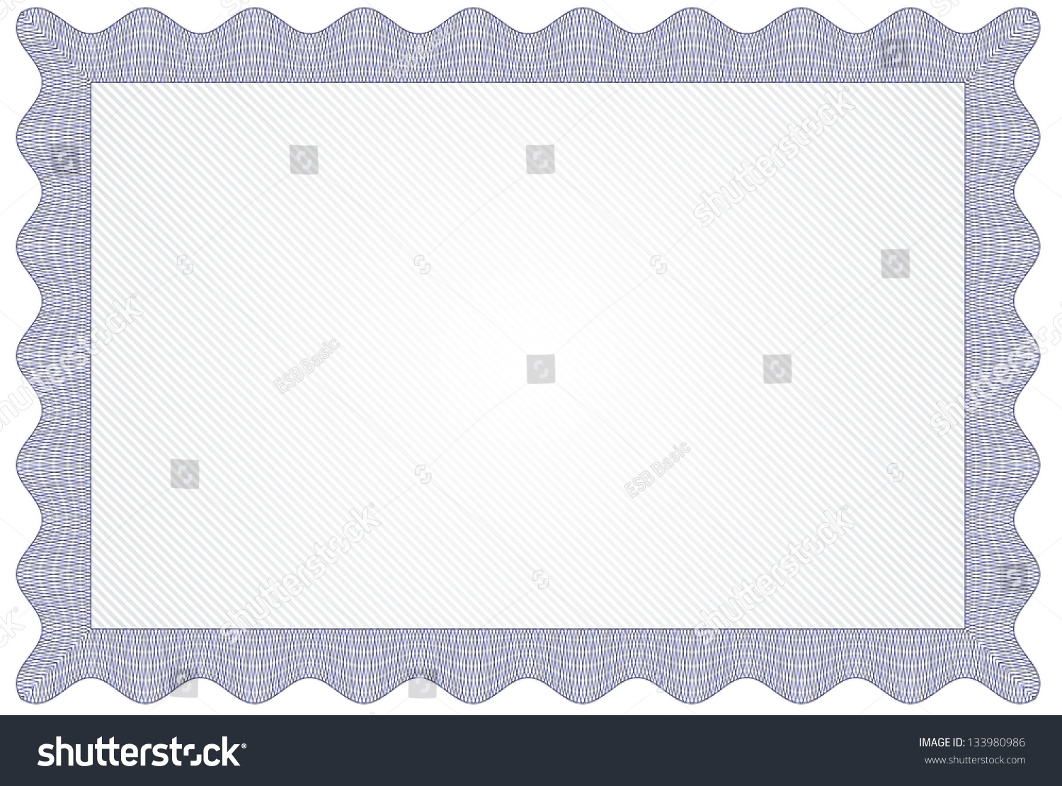 Blank Certificate Diploma Template Stock Vector 133980986 - Shutterstock