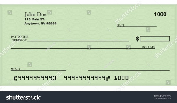 Vector Blank Check Template