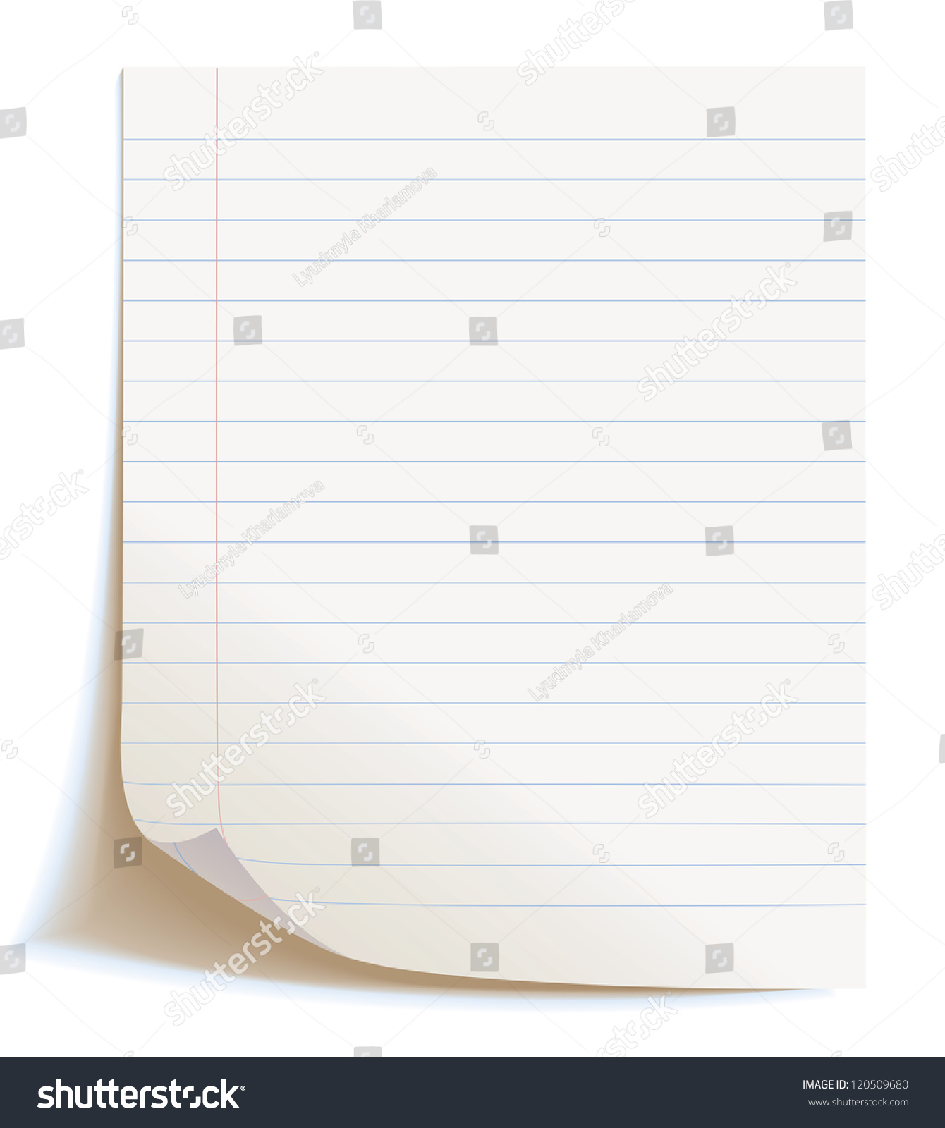 Blank Worksheet Exercise Book Isolated On White