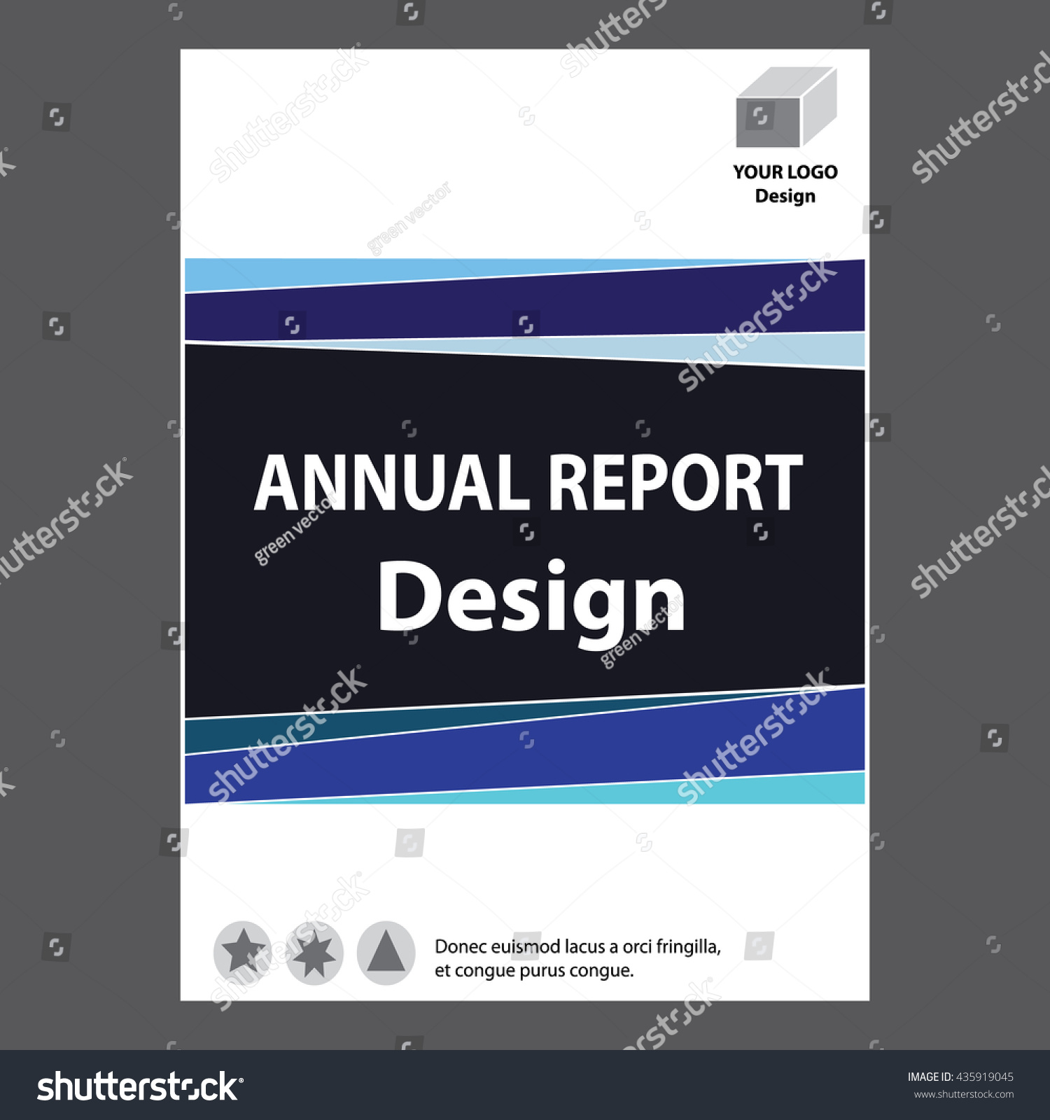 Blue Annual Report Title Page Sample Cover Page Design Templates Blue  Annual Report Title Page Sample