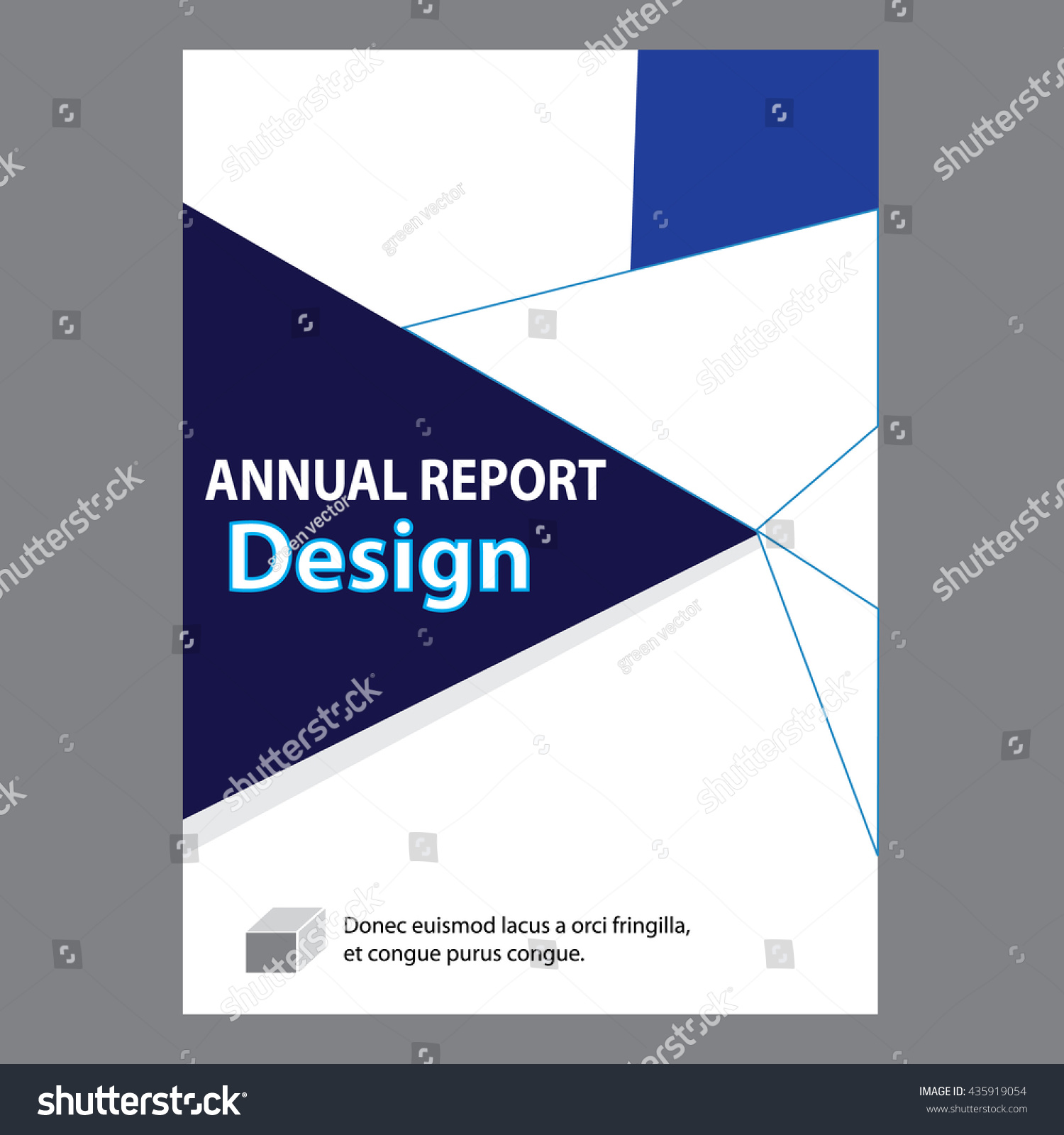 Blue Annual Report Title Page Sample Stock Vector 435919054 ...