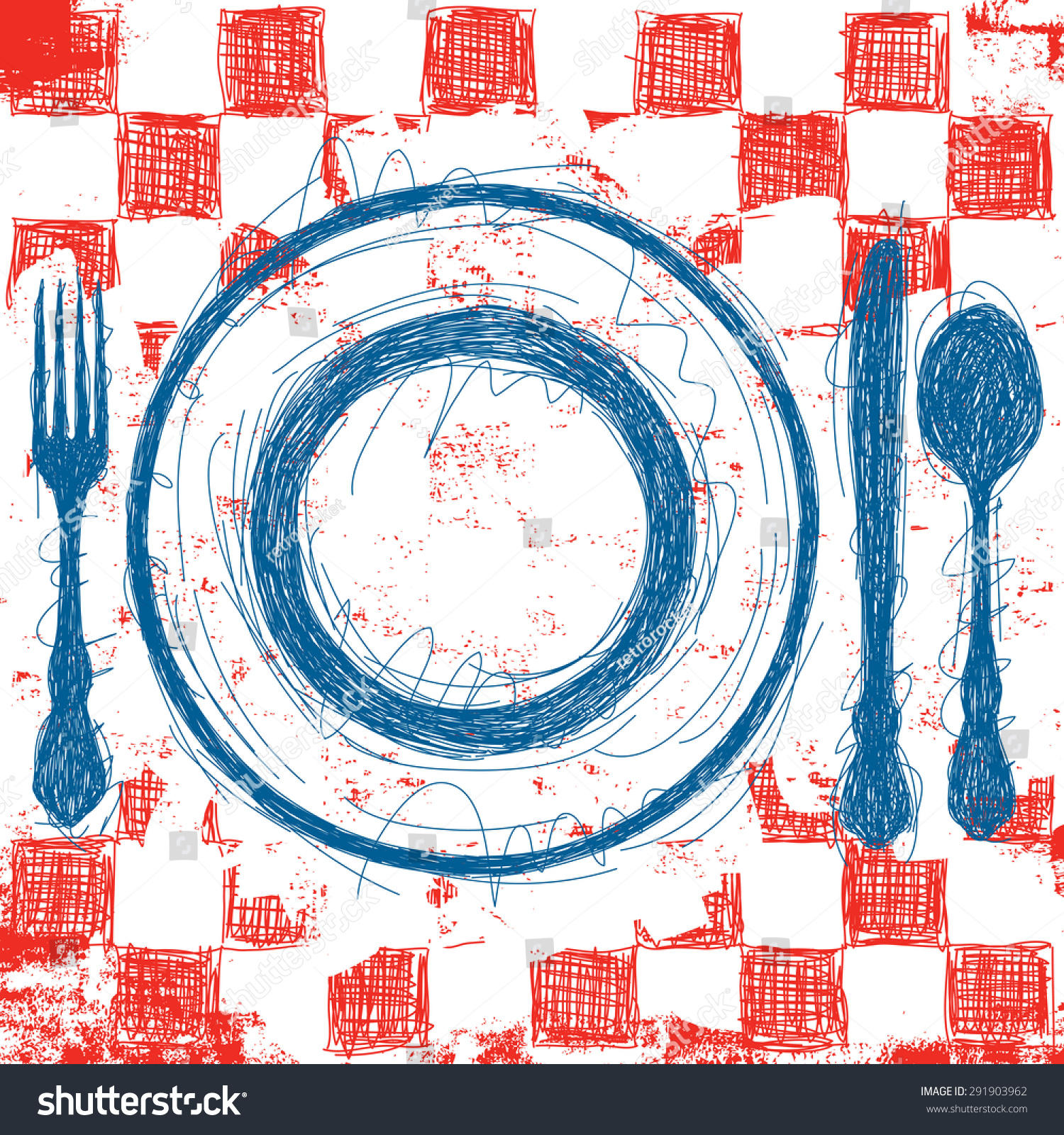 Checkerboard Tablecloth Clip Art