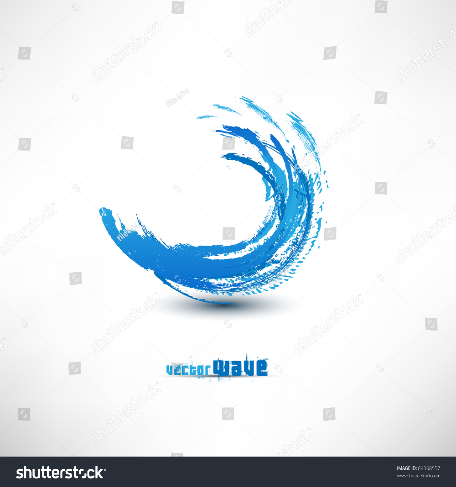 Blue Wave Sign Stock Vector Illustration 84368557 : Shutterstock