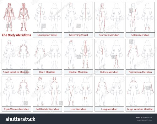 small resolution of body meridians chart female body schematic diagram with main acupuncture meridians and their directions