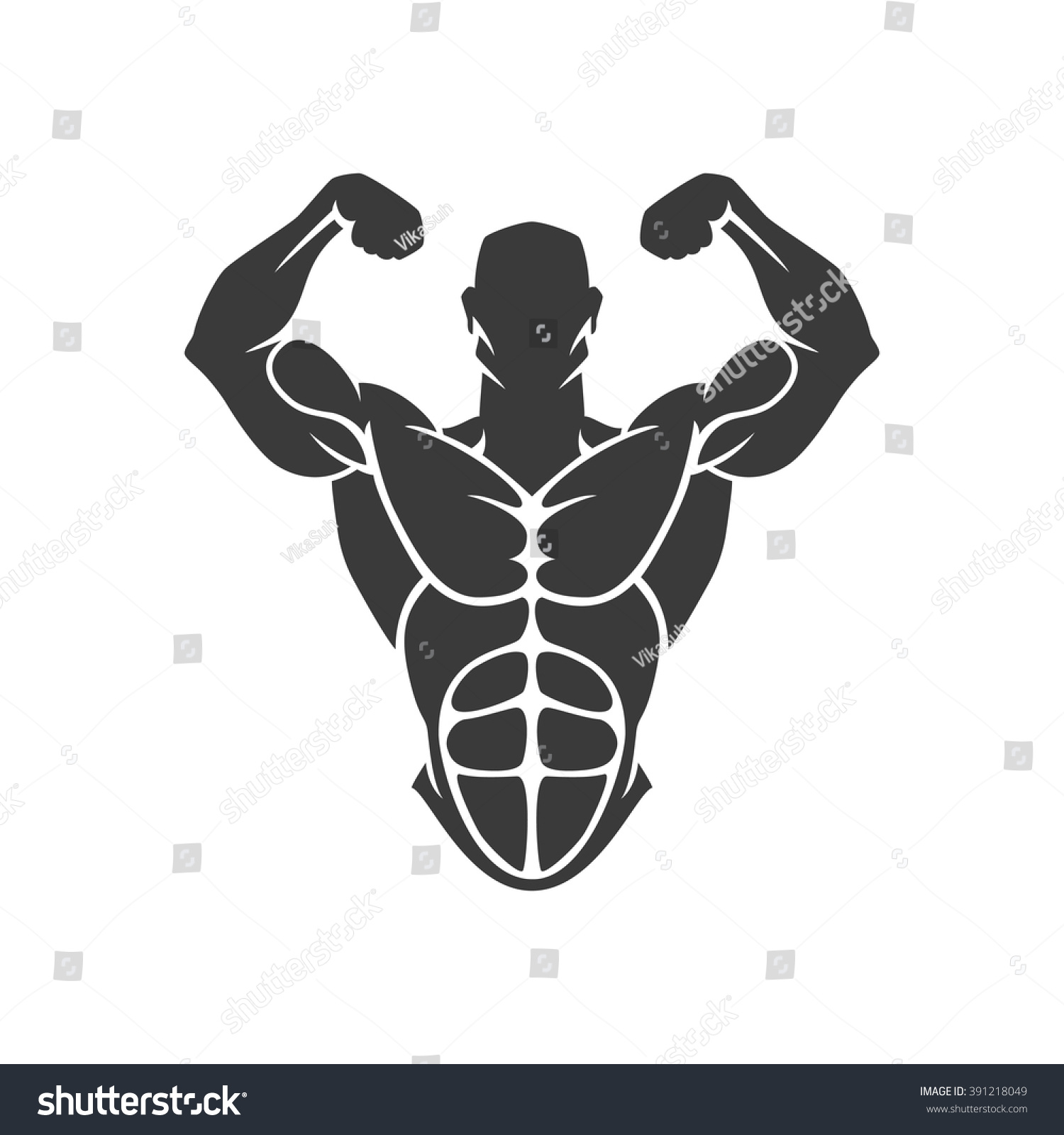 vector object and icons for sport label gym badge fitness logo