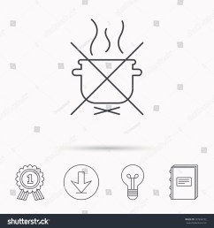 boiling saucepan icon do not boil water sign cooking manual attenction symbol download [ 1500 x 1600 Pixel ]