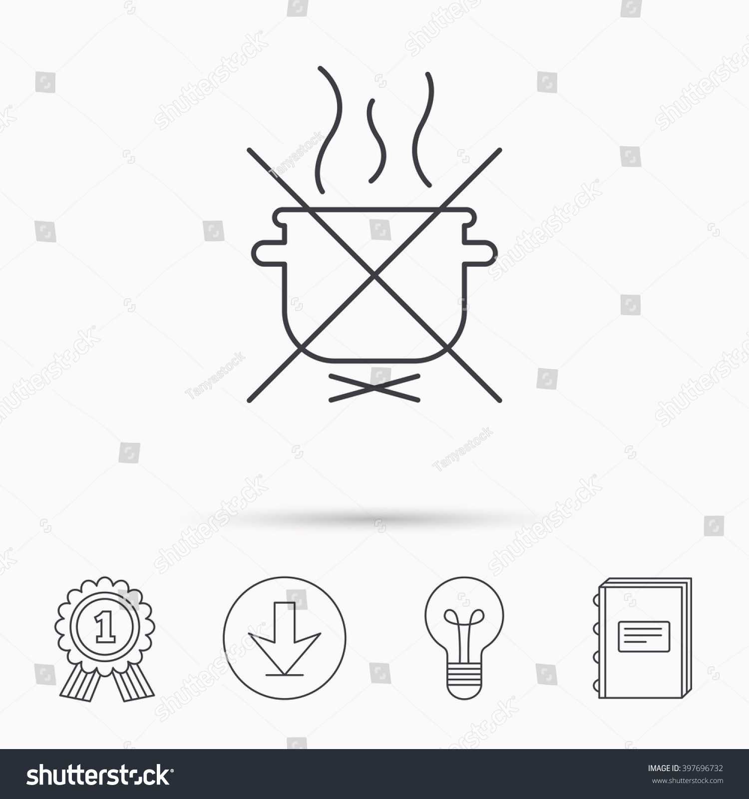 hight resolution of boiling saucepan icon do not boil water sign cooking manual attenction symbol download