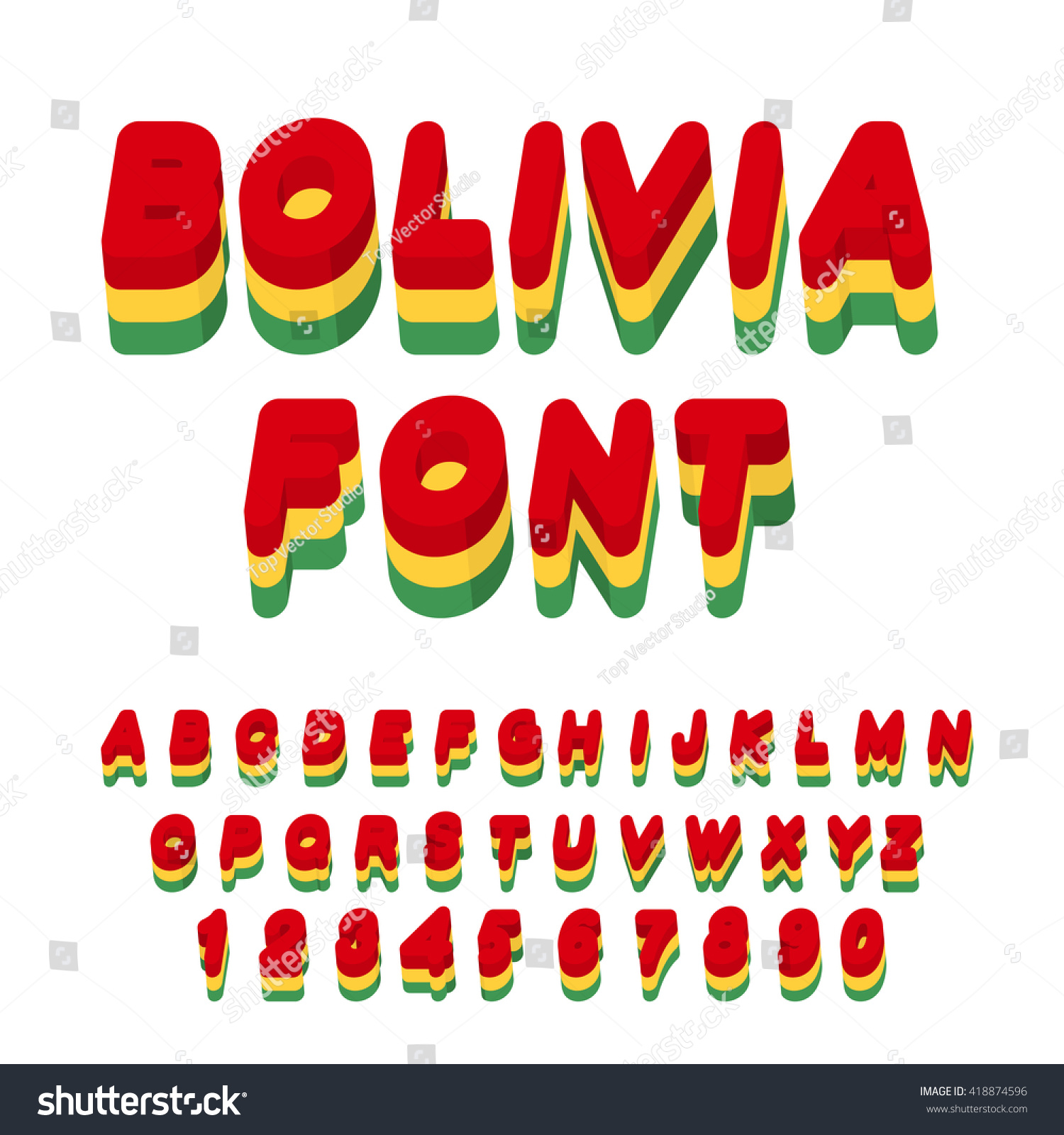 hight resolution of bolivian flag on letters national patriotic alphabet 3d letter state