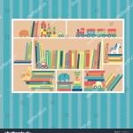 Bookshelf Toys Train Car Horse Castle Stock Vector Royalty