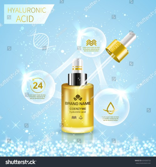 small resolution of bottle with hyaluronic acid advertising template abstract infographics diagram