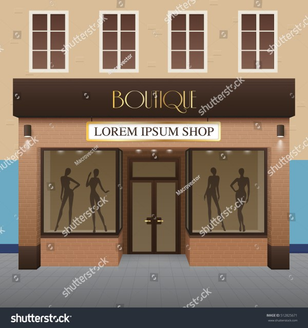 Boutique Building Realistic Background Fashion Beauty