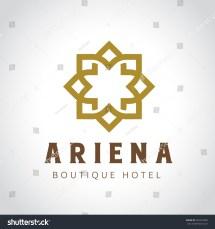 Boutique Hotel Logo Vintage Vector
