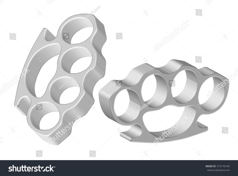brass knuckles diagram ktp 445u wiring vector illustration stock royalty free