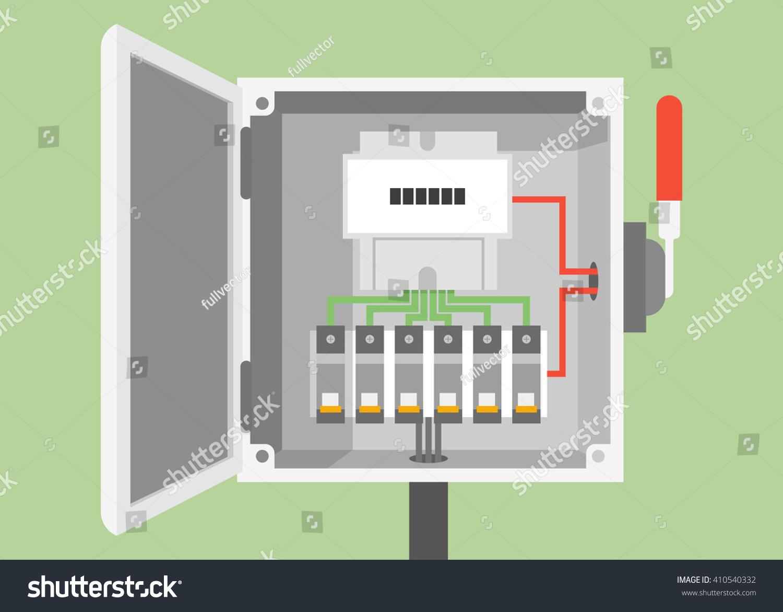 Breakers Switch Vector Flat Fuse Vector Stock Vector