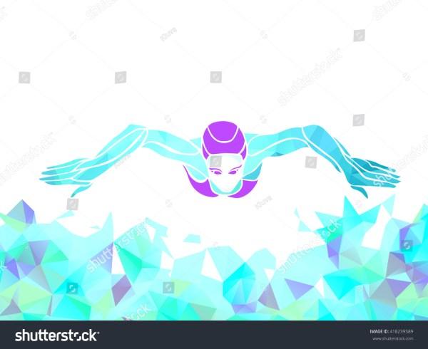 Breaststroke Swimmer Female Silhouette Sport Swimming