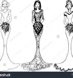 bride wedding clipart vector illustration [ 1500 x 1222 Pixel ]