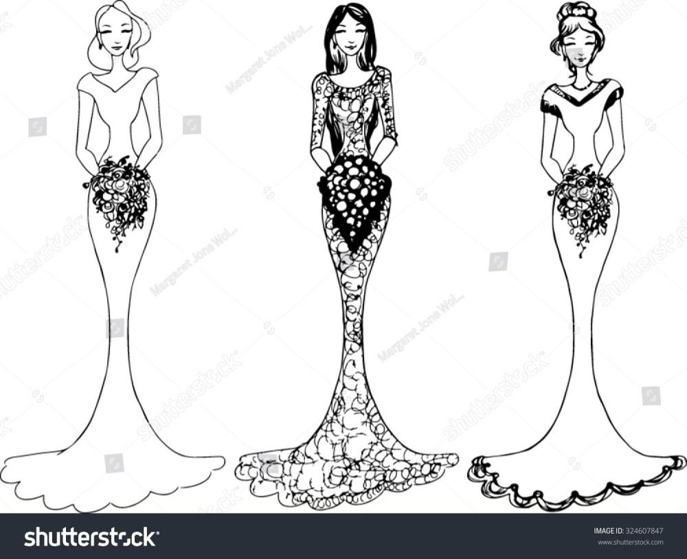 medium resolution of bride wedding clipart vector illustration