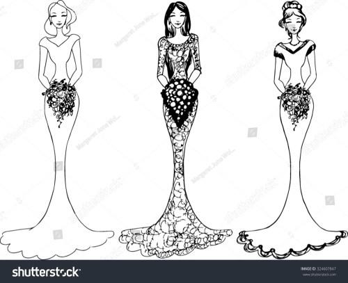 small resolution of bride wedding clipart vector illustration