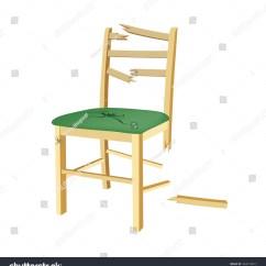 Recliner Chair Handle Broken Wingback Covers Ikea Wooden Green Seat Stock Vector 344310017