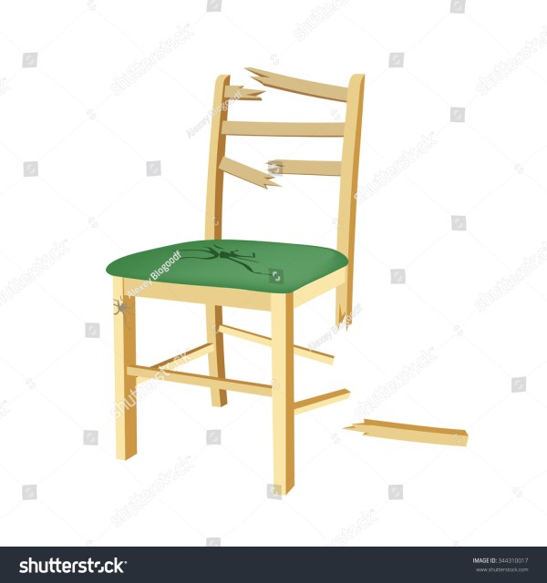 Broken Wooden Chair Clip Art