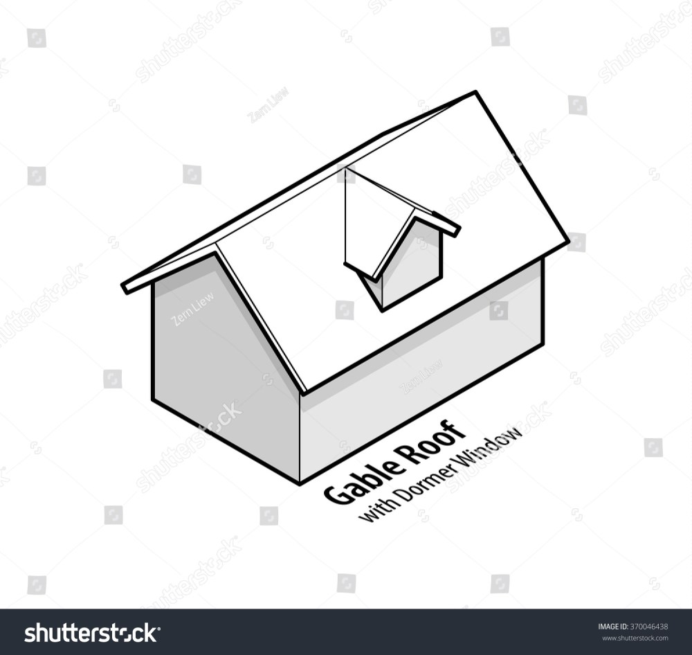 medium resolution of building roof type gable roof with dormer window