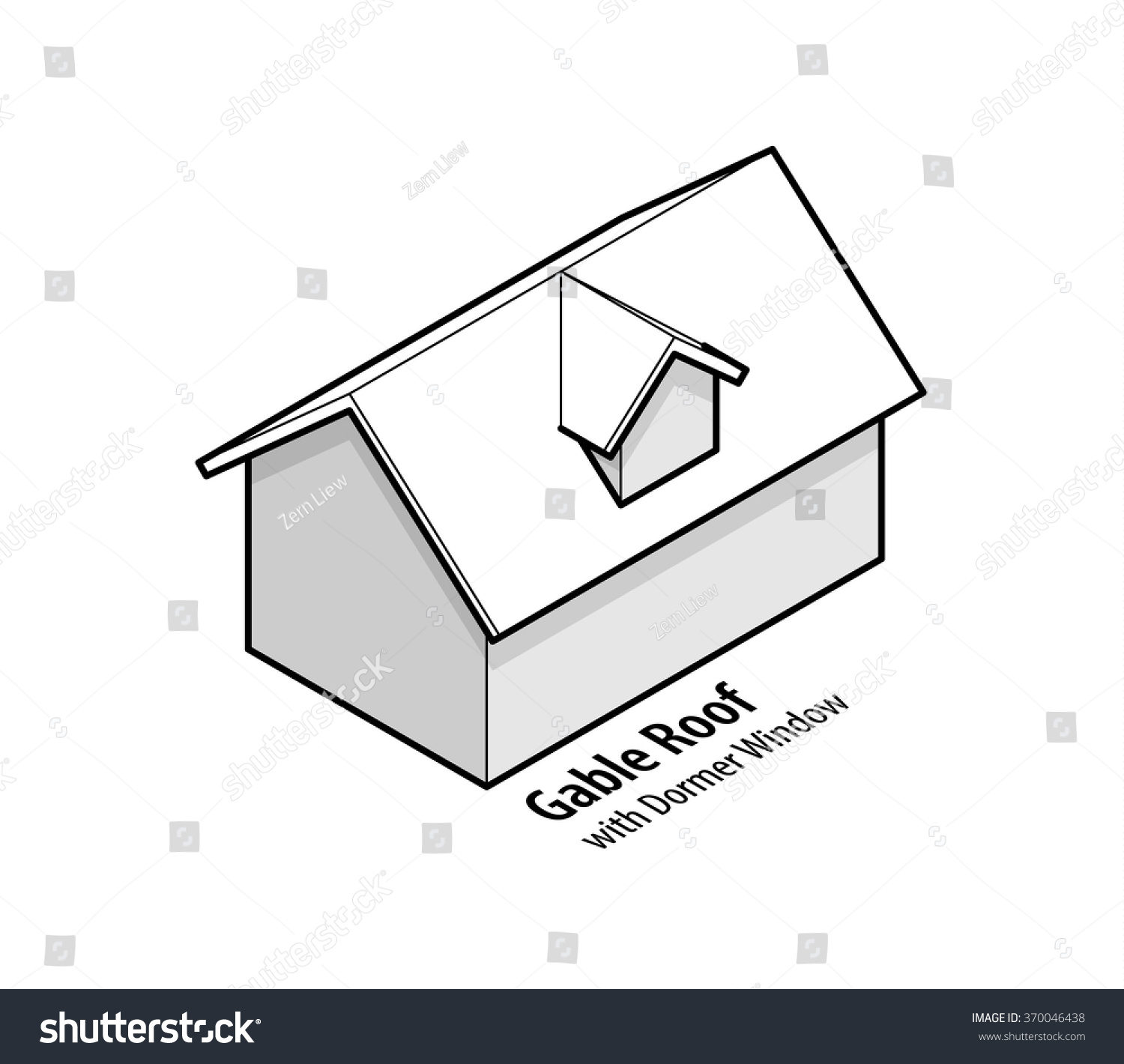 hight resolution of building roof type gable roof with dormer window