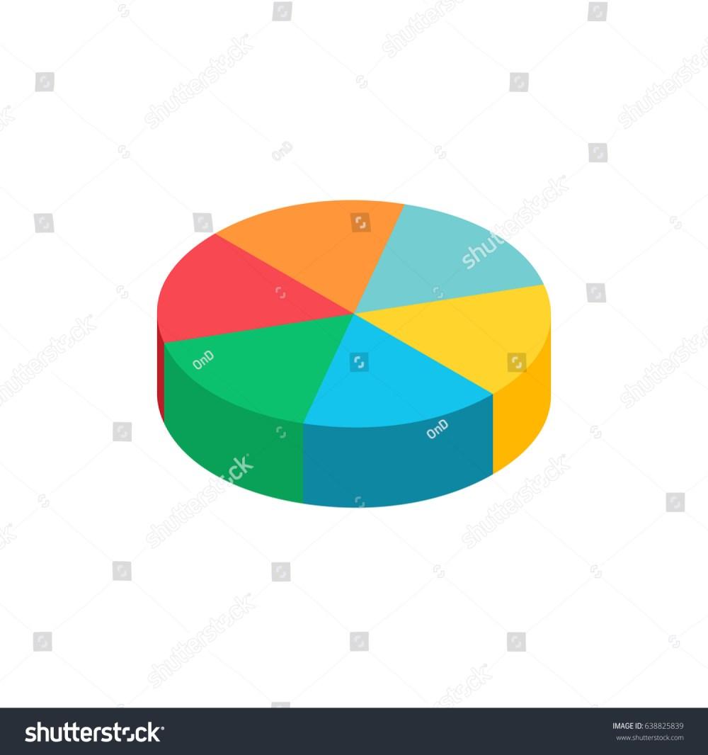 medium resolution of bulk isometric pie graph template realistic three dimensional pie chart business data