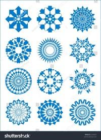 Bursts Circular Designs Stars 1 Stock Vector 2245835 ...