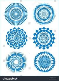 Bursts Circular Designs Stars 2 Stock Vector 2245836 ...