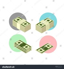 Business And Banking Money Sign Icon Set Stock Vector