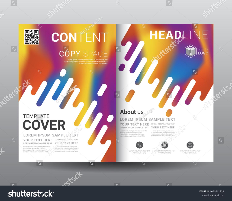 Business Bi-Fold Brochure Templates, Fold Leaflet, Flyer, Magazine, Annual  Report
