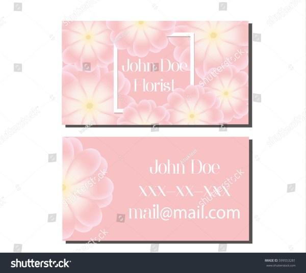 Business Card Design Template Soft Pink Stock Vector 599553281 - Shutterstock