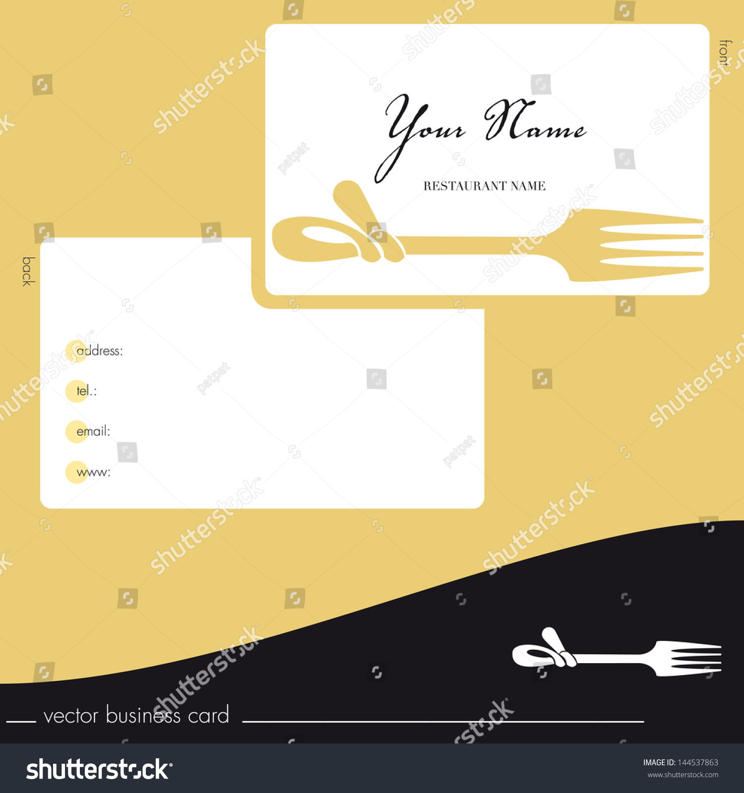hight resolution of business cards catering