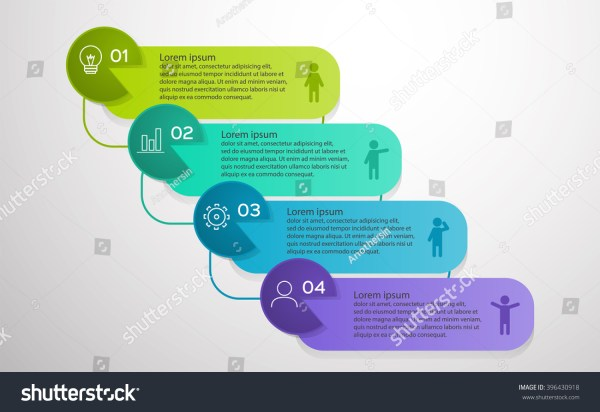 Business Infographic 4 Template Vector Infographics Stock