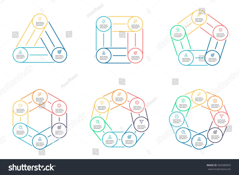 Business Infographics Triangle Square Pentagon Hexagon